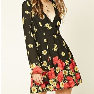 Forever 21 Floral Dress with Bell Sleeves